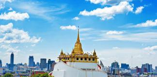 Chùa núi vàng Wat Saket ở Bangkok