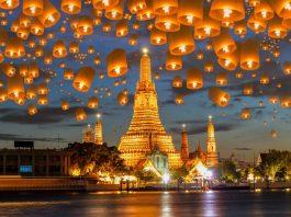 Thả đèn lồng ở Bangkok