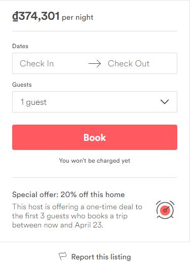 Đặt phòng tại Airbnb