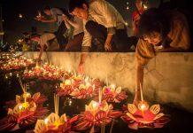 Lễ hội thả hoa đăng Loy Krathong ở Bangkok
